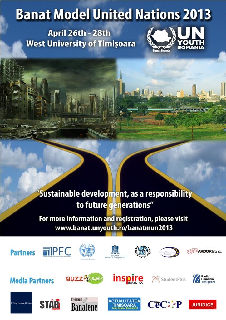 Afiș Banat Model United Nations 2013